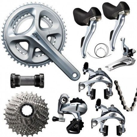 Groupe vélo route Shimano 105 5800 2x11v argent