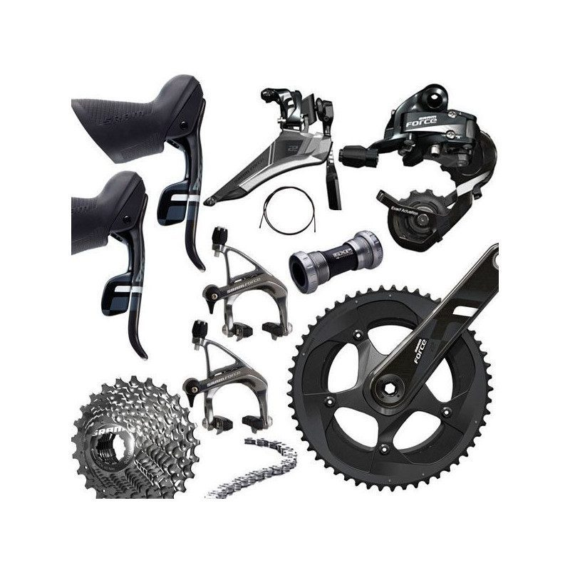 Groupe Sram Force 22 Yaw 11v double plateaux - Achat/Vente