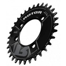 Plateau rond VTT Rotor NoQX1 entraxe 76mm 4 branches