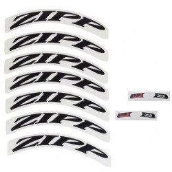 Lot d'autocollants Zipp Decal Set pour roue Zipp 303 noir