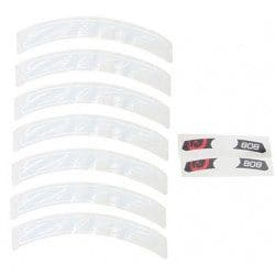 Lot d'autocollants Zipp Decal Set pour roue Zipp 808/Disc blanc