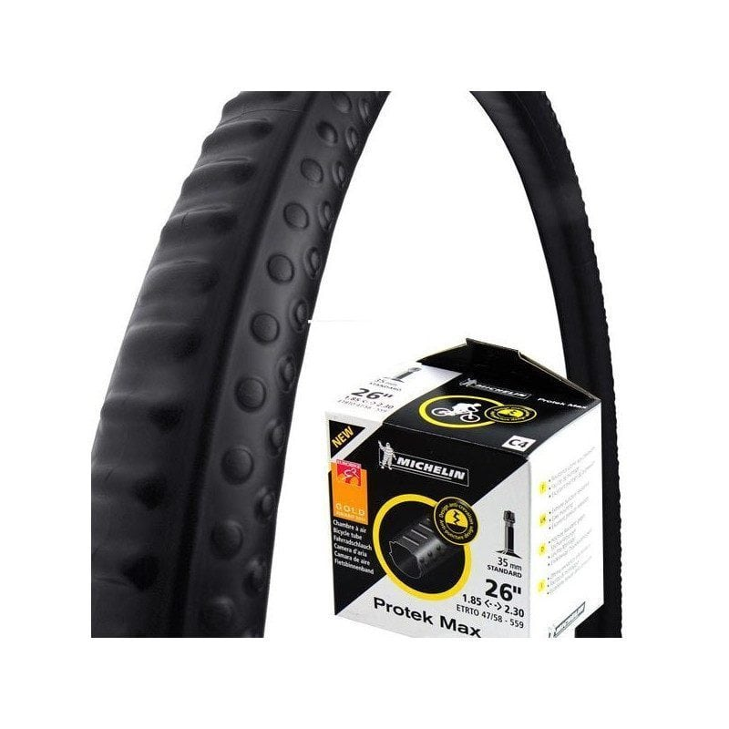 Chambre air michelin protek max increvable et carr e for Chambre a air vtt increvable