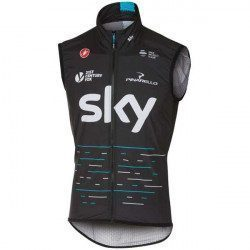 Gilet coupe-vent Castelli Pro Light Wind Sky 2017 Noir
