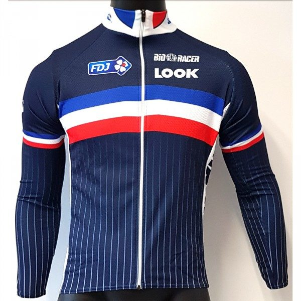 maillot v lo manches longues bioracer ffc team fdj. Black Bedroom Furniture Sets. Home Design Ideas