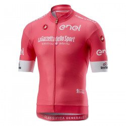 Maillot vélo manches courtes Castelli Giro d'Italia Race Jersey FZ 2018 rose leader