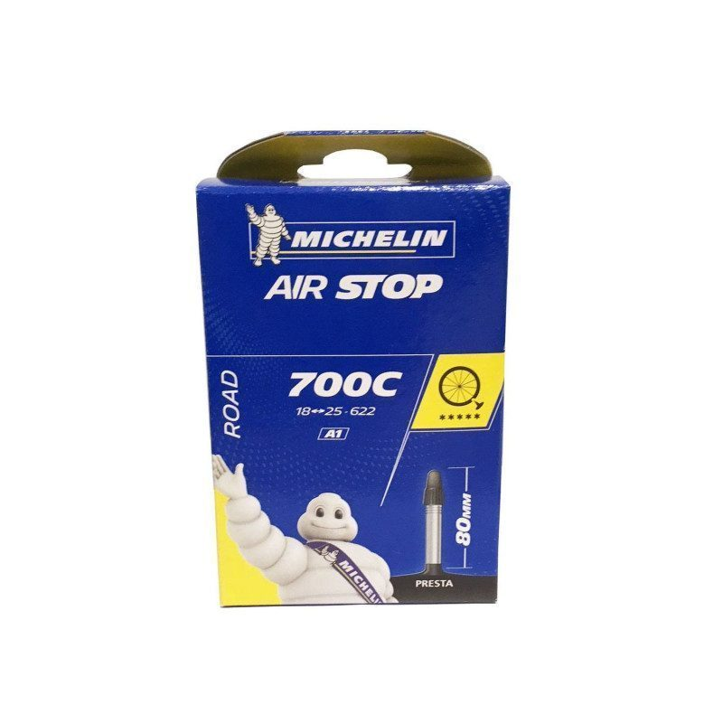 Chambre air v lo route michelin airstop butyl 700x18 25 valve 80mm - Chambre a air velo route 700x23 ...