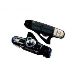 4 porte-patins noirs + patins 3 gommes BBB BBS22T Techstop Shimano